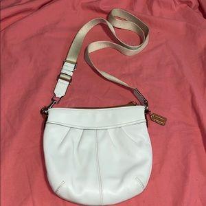 COACH White Messenger Crossbody Bag
